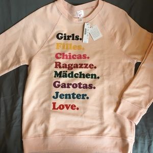 J Crew X Girls Inc Sweatshirt New with Tags, Small